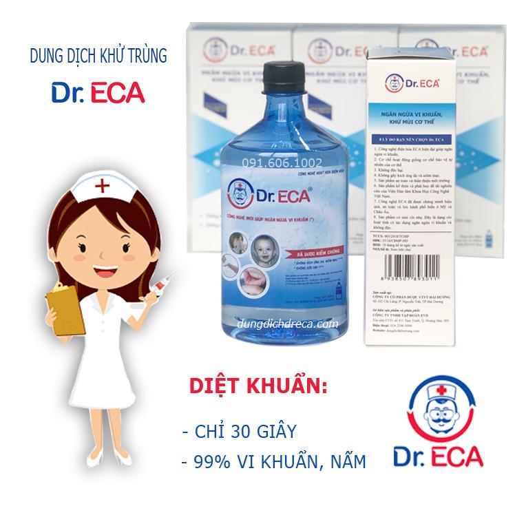 Dung dịch Dr.ECA khử trùng, sát khuẩn vết thương, làm sạch khoang miệng