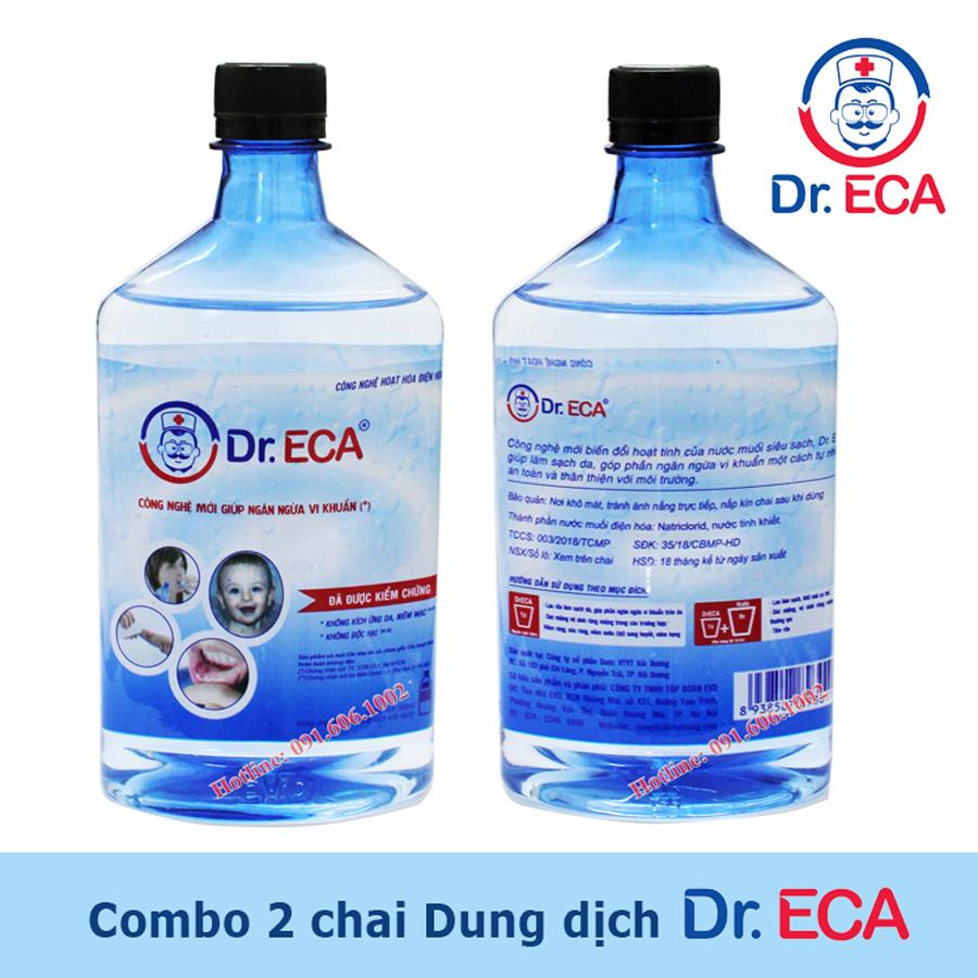 Rửa vết thương hở với dung dịch Dr.ECA